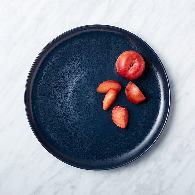 Visto Navy Stoneware Dinner Plate - Image 1 of 9