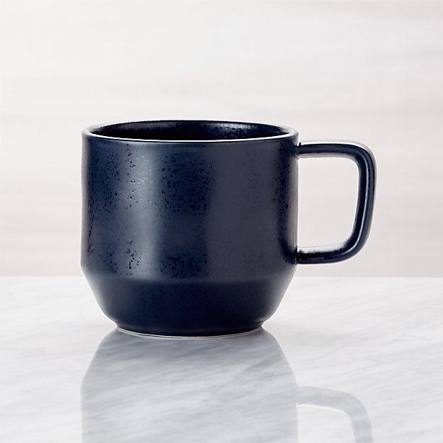 Visto Navy Stoneware Mug - Image 1 of 6