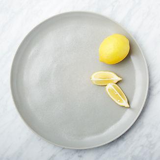 Visto Grey Stoneware Platter