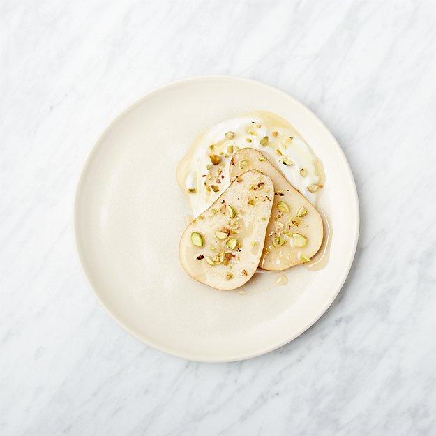 Visto Cream Stoneware Salad Plate - Image 1 of 8