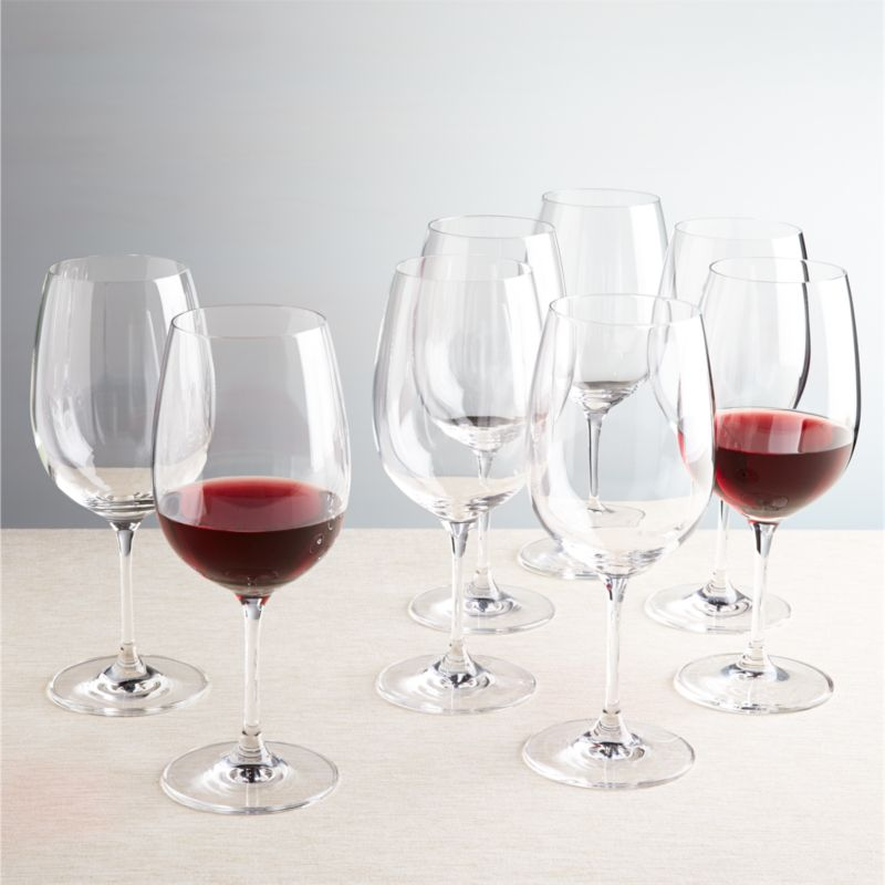 Viv All Purpose Big Wine Glasses Set Of 8 Reviews Crate And Barrel