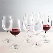 Viv Big Red Wine Glasses, Set of 8