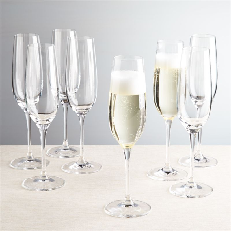 "Everyday stemware, beautifully crafted from top to bottom. The traditional flute bowl is finished with a smooth fire-polished rim and pulled stem. Exquisite clarity at an exceptional price.<br /><br />We've got great <a href=""/ideas-and-advice/mimosa-bar-ideas"">tips and advice on how to host brunch</a>.<br /><br /><NEWTAG/><ul><li>Casual everyday glass at an exceptional value</li><li>9 oz.</li><li>Pulled stem</li><li>Dishwasher-safe</li><li>Made in Slovakia</li></ul>"