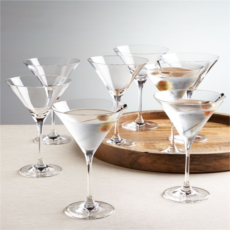 Viv Martini Glass Set Of 8 Reviews Crate And Barrel