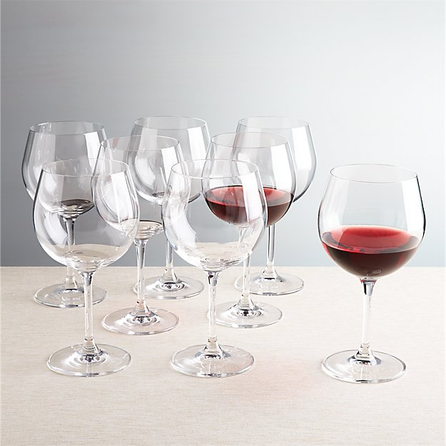 Set of 8 Viv Red Wine Glasses