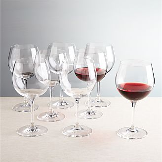 viv red wine glasses set of 8