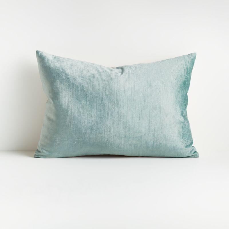 Viva Aqua 22 Quot X15 Quot Crushed Velvet Pillow With Down