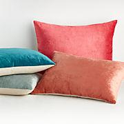 Cushions set of 4 filled Large covers velour velvet diamond design terracotta