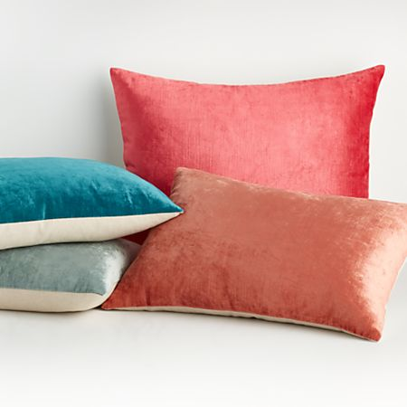 Viva 22 X15 Crushed Velvet Pillows