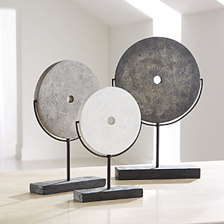 Volcanic Ash Disc Sculptures