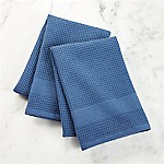 Waffle-Terry Indigo Dish Towels, Set of 2