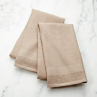 Sand Terry/Waffle Weave Dish Towels, Set Of 2