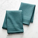 Waffle/Terry Spruce Dish Towels, Set of 2