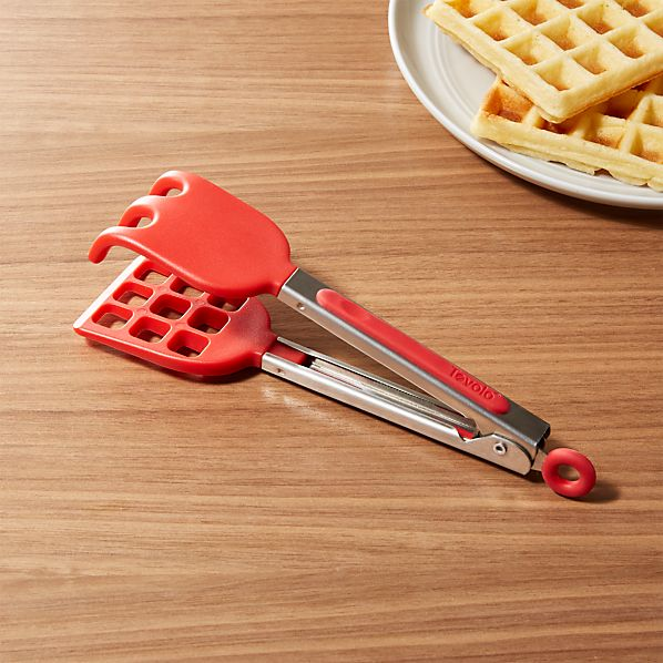 WaffleTongsRedSHF16