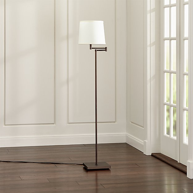 Adams bronze swing arm floor lamp reviews crate and barrel mozeypictures Image collections