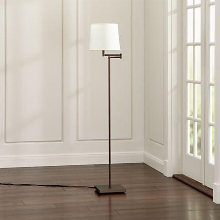 Adams Bronze Swing Arm Floor Lamp