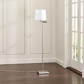 Adams Nickel Swing Arm Floor Lamp