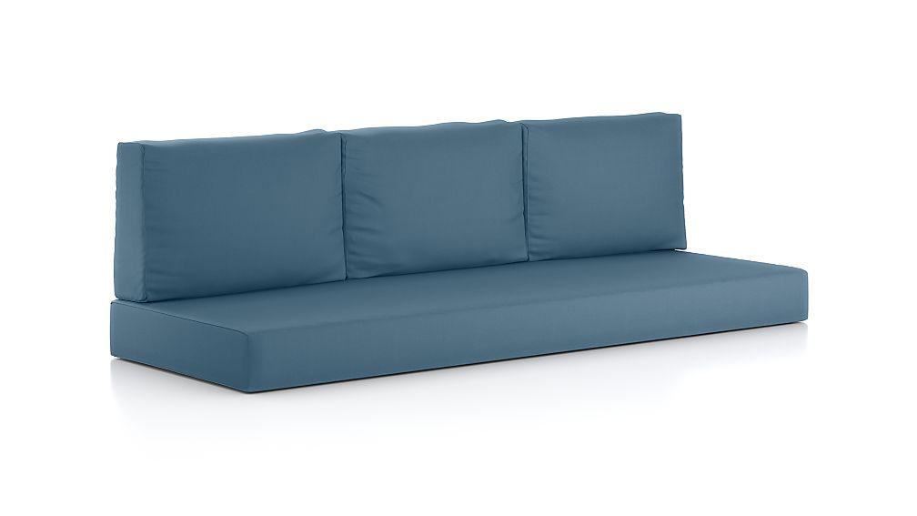 Walker Sapphire Sunbrella ® Sofa Cushions, Set of 4 - Image 1 of 1