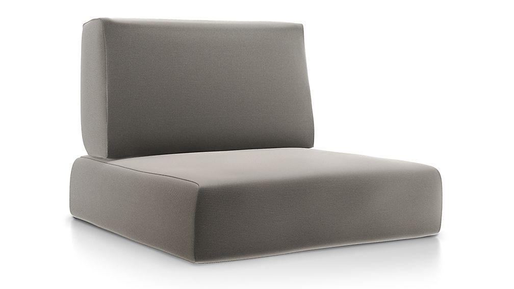 Walker Graphite Sunbrella ® Lounge Chair Cushions - Image 1 of 2