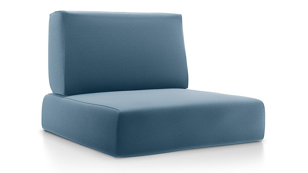 Walker Sapphire Sunbrella ® Lounge Chair Cushions - Image 1 of 2