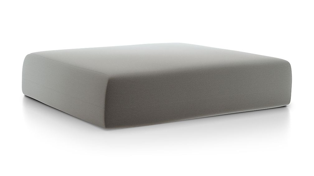 Walker Graphite Sunbrella ® Ottoman Cushion - Image 1 of 2