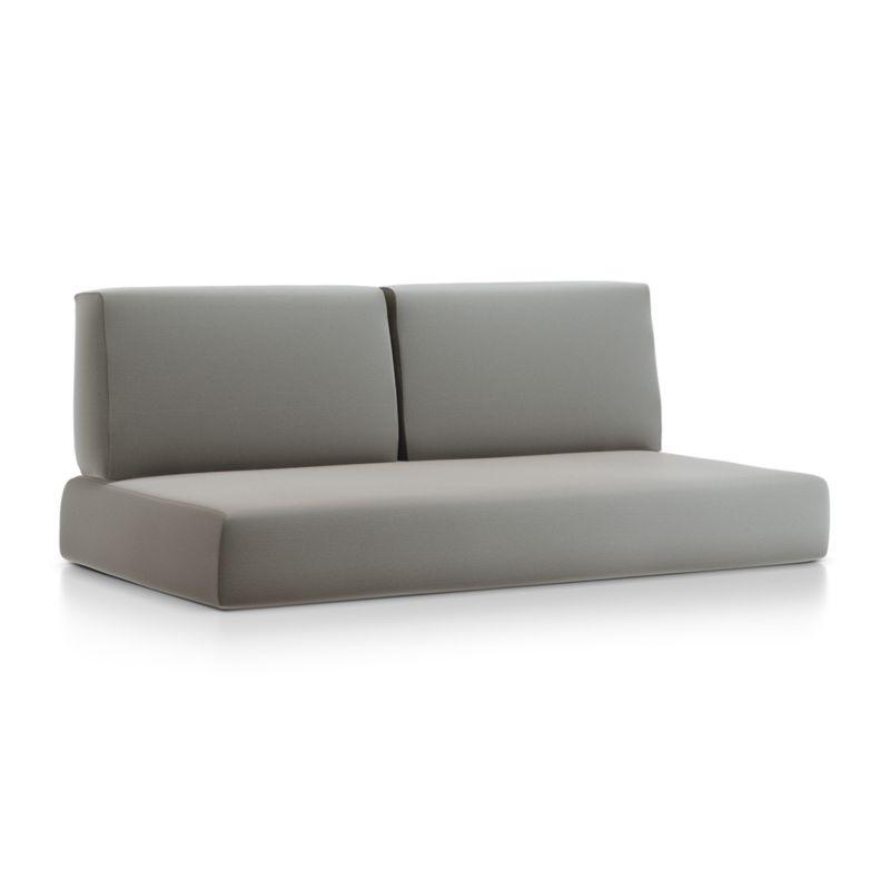 Walker Graphite Sunbrella ® Sofa Cushions