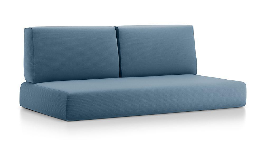 Walker Sapphire Sunbrella ® Sofa Cushions - Image 1 of 2