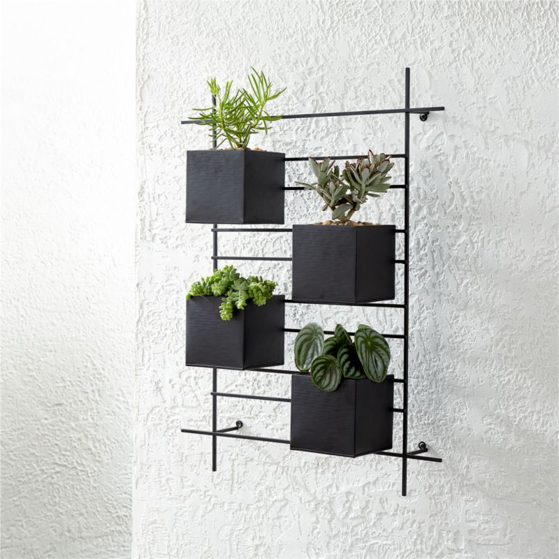 4 Box Wall Mounted Planter Reviews Crate And Barrel