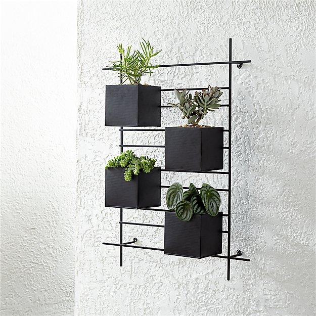 4 Box Wall Mounted Planter - Image 1 of 9