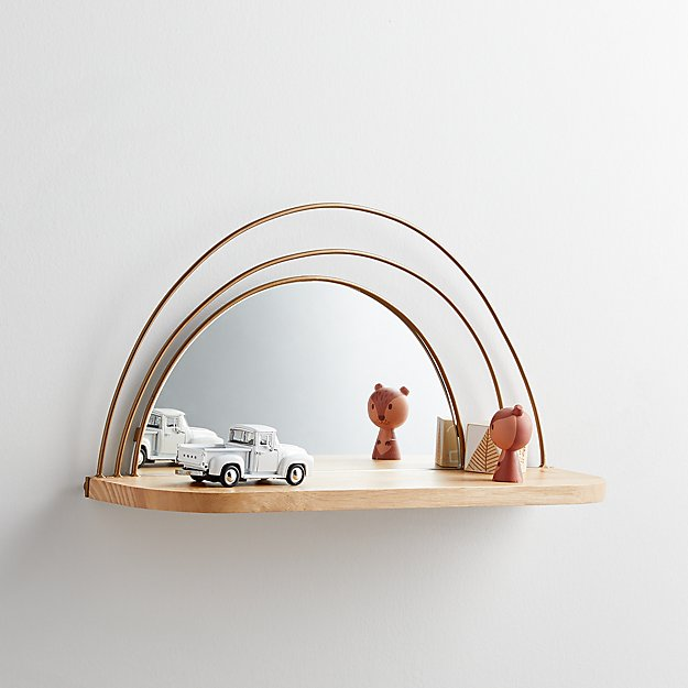 Wall Shelf and Mirror - Image 1 of 5