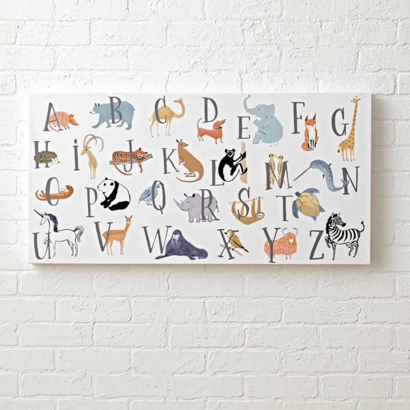 Animal Alphabet Wall Art For A Nursery Reviews Crate