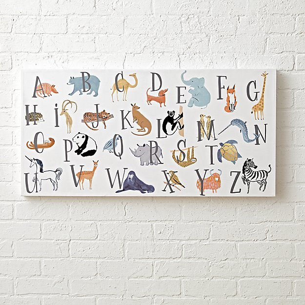 Animal Alphabet Wall Art for a Nursery + Reviews | Crate and Barrel