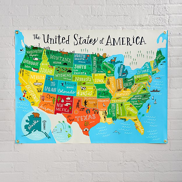 United States Of America Banner Reviews Crate And Barrel