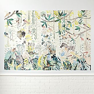 Kids wall art and decor crate and barrel birch forest mural decal gumiabroncs Image collections