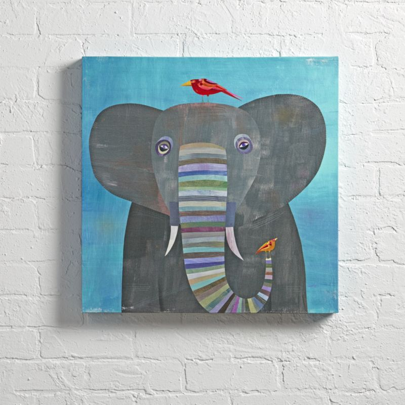 Colorful Elephant Wall Art | Crate and Barrel