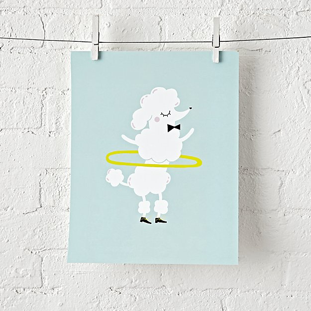 Poodle Wall Art + Reviews   Crate and Barrel