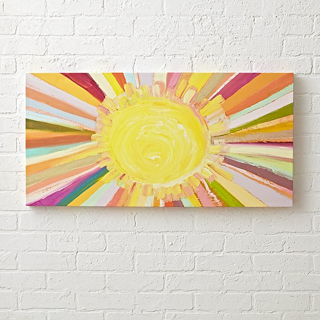 Sunshine Painting + Reviews | Crate and Barrel
