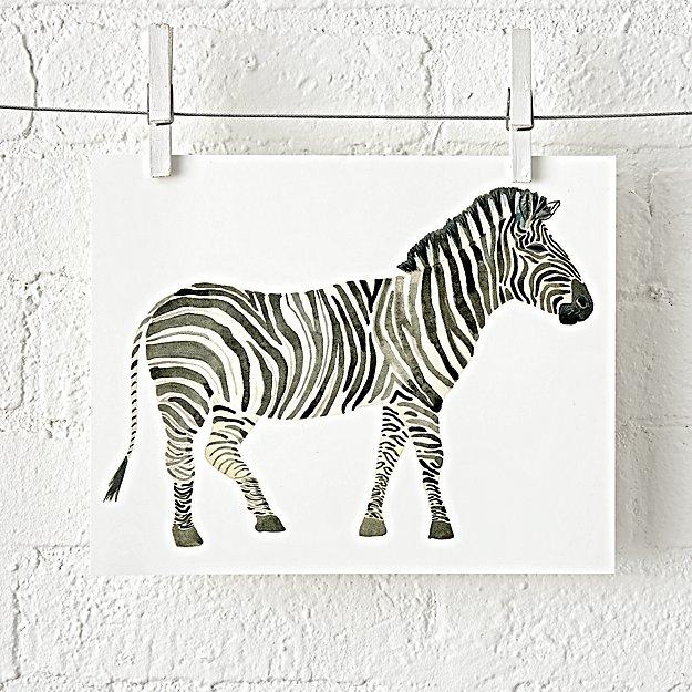 Popular Zebra Safari Unframed Wall Art + Reviews | Crate and Barrel LU89