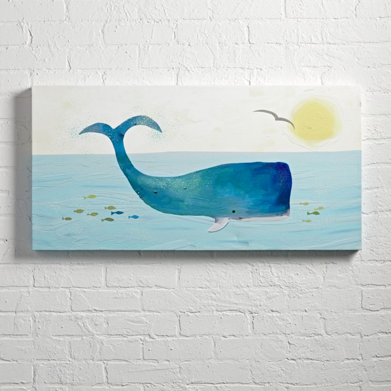 Whale Wall Art + Reviews | Crate and Barrel