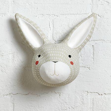Paper Mache Rabbit Head Reviews Crate And Barrel