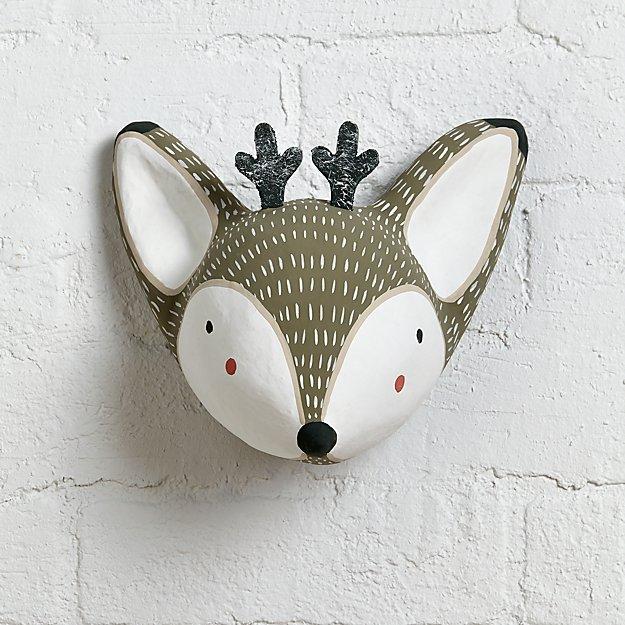 Paper Mache Deer Head - Image 1 of 12