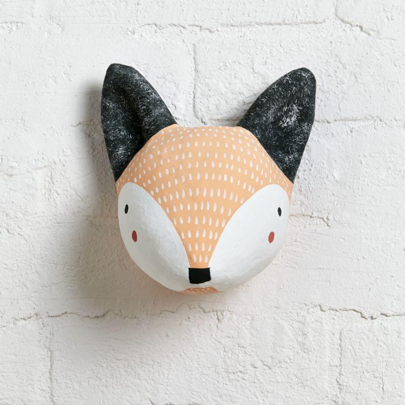 Paper Mache Fox Head Reviews Crate And Barrel