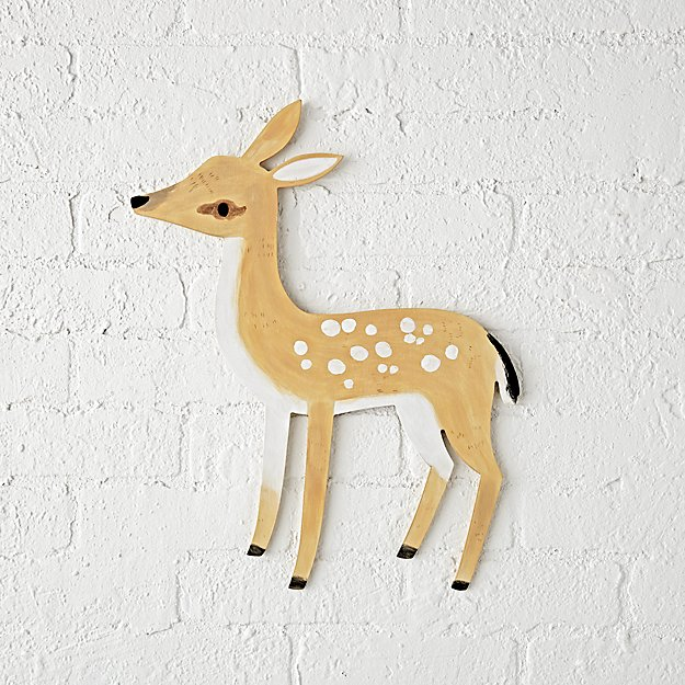 Wooden Deer Wall Decor Reviews Crate And Barrel