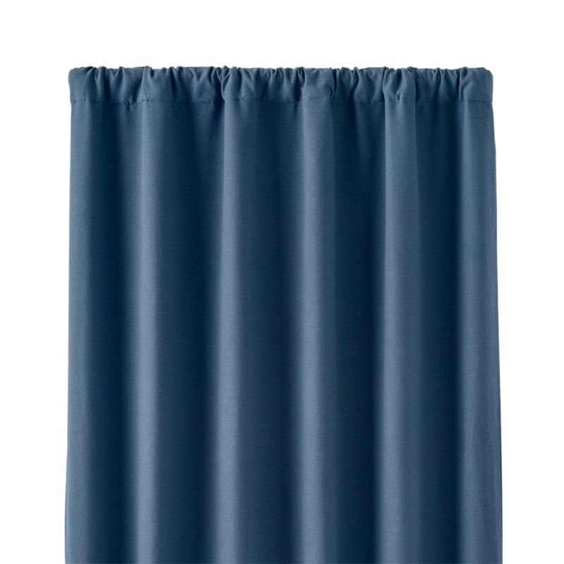 Wallace Blue 52 X84 Blackout Curtain Panel Crate And Barrel