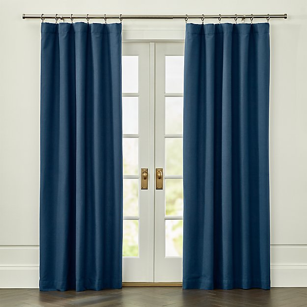 wallace blue blackout curtain panel crate and barrel