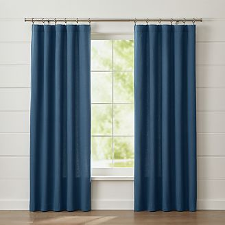 wallace blue curtain panel