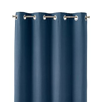 "Wallace Blue 52""x84"" Grommet Curtain Panel"