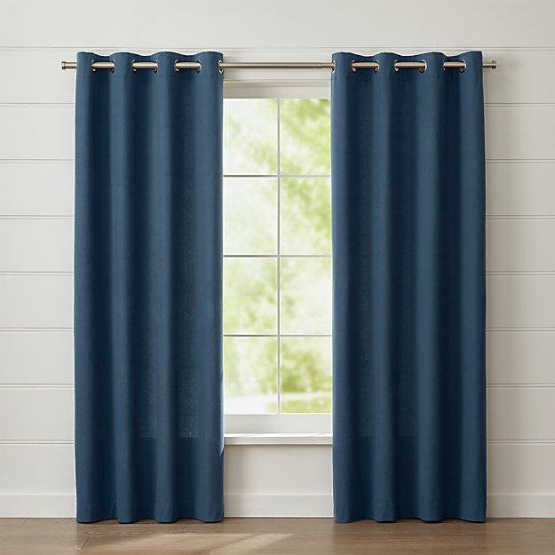 Wallace Blue Grommet Curtain Panel
