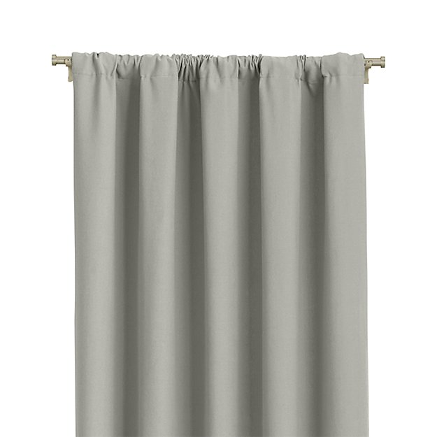 "Wallace 52""x108"" Grey Curtain Panel - Image 1 of 9"