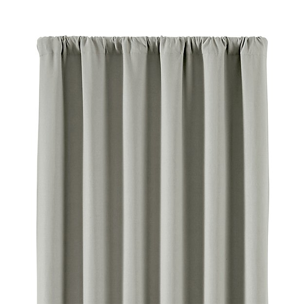 Wallace 52 Quot X96 Quot Grey Blackout Curtain Panel Crate And Barrel